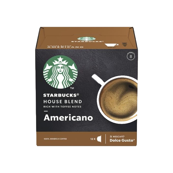 Starbucks Hоuse Blend Americano Капсули За Dolce Gusto - 12 бр