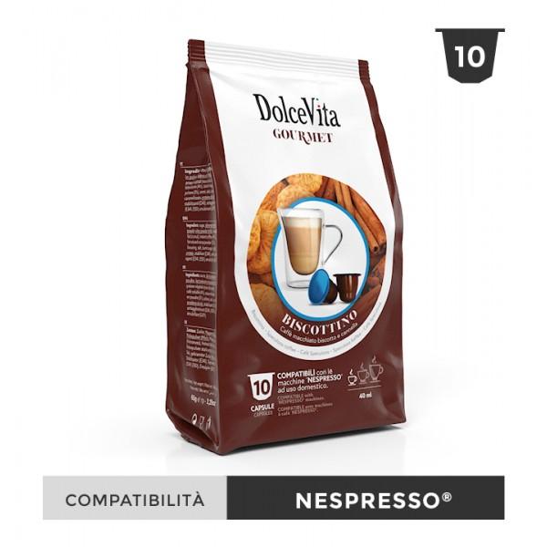 Dolce Vita съвместими капсули за Nespresso Biscottino 10 бр