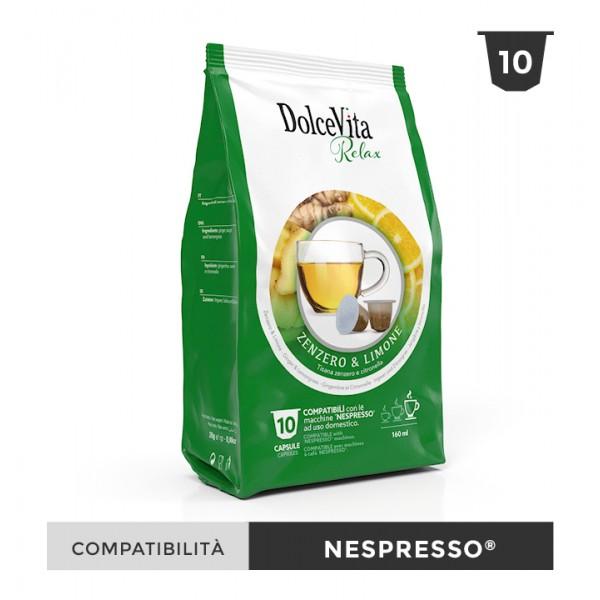 Dolce Vita съвместими капсули за Nespresso Zenzero limone 10 бр