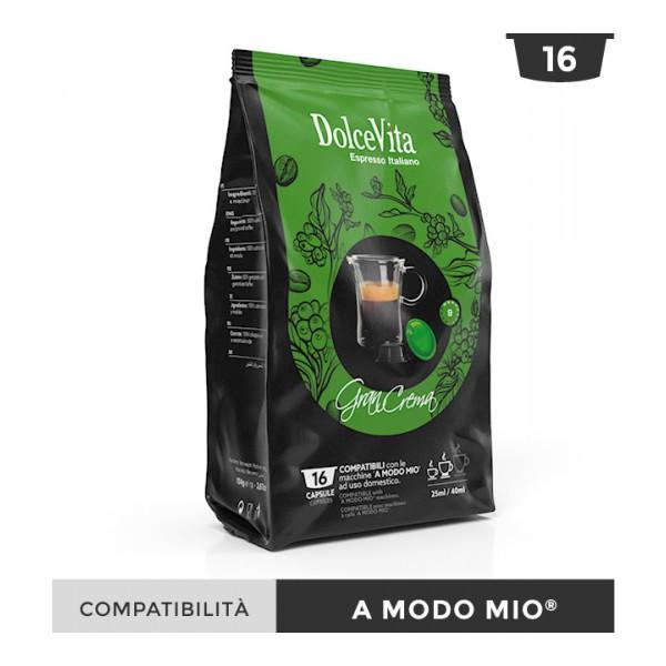 Dolce Vita съвместими капсули за Lavazza A Modo Mio Gran Crema 16 бр