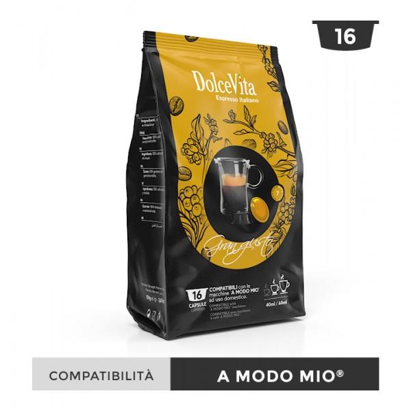 Dolce Vita съвместими капсули за Lavazza A Modo Mio Gran Gusto 16 бр