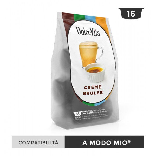 Dolce Vita съвместими капсули за Lavazza A Modo Mio Creme Brulee 16 бр