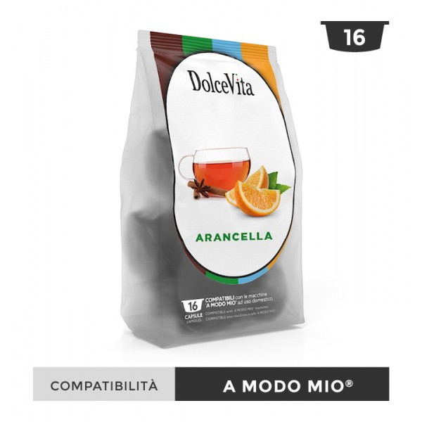 Dolce Vita съвместими капсули за Lavazza A Modo Mio Arancella 16 бр