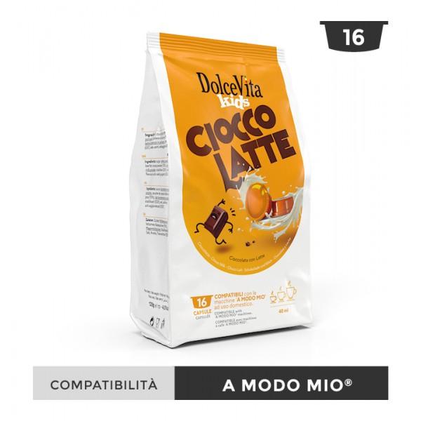 Dolce Vita съвместими капсули за Lavazza A Modo Mio Ciocco Latte 16 бр
