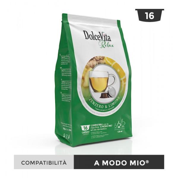 Dolce Vita съвместими капсули за Lavazza A Modo Mio Zenzero limone 16 бр
