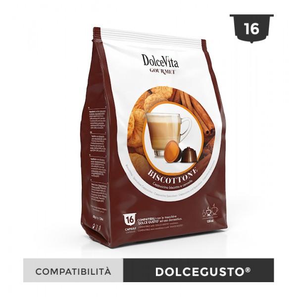 Dolce Vita съвместими капсули за Dolce Gusto Biscottino 16 бр