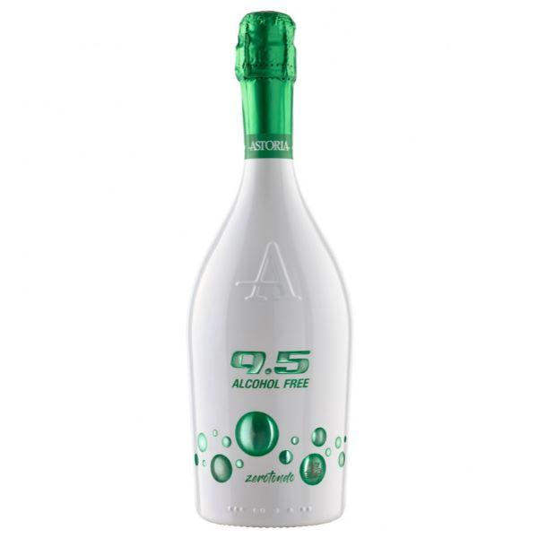 Astoria Бяло Пенливо Вино 9.5 Alcohol Free Zerotondo 750мл