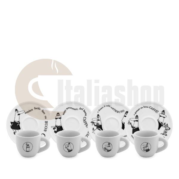 Bialetti комплект от 4 еспресо чаши Carosello
