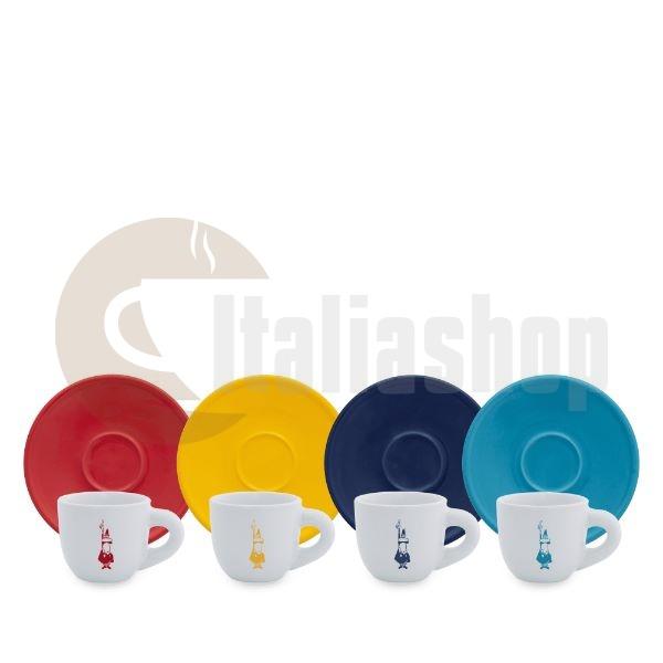 Bialetti комплект от 4 еспресо чаши Мока Колор
