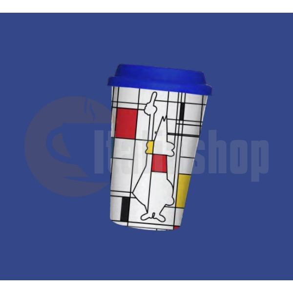 Порцеланова чаша Bialetti Mondrian със силиконова капачка