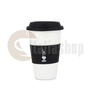 Порцеланова чаша Bialetti със силиконова капачка. Черна 300мл