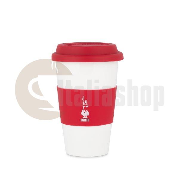 Порцеланова чаша Bialetti със силиконова капачка. Червена 300мл