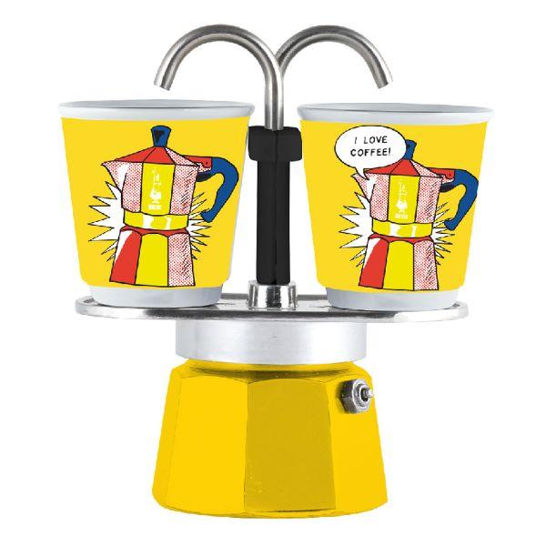 Bialetti Set Mini Express Lichtenstein ЗА 2 ЧАШИ