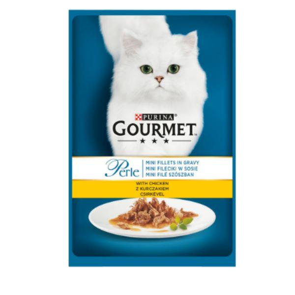 Котешка Храна Gourmet® Perle Мини Филенца В Сос С Пиле 85g
