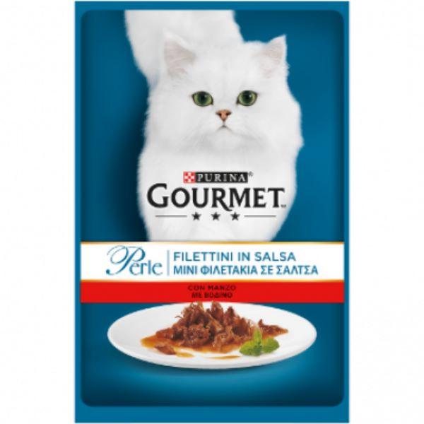 Котешка Храна Gourmet® Pеrle Мини Филенца В Сос С Говеждо 85g