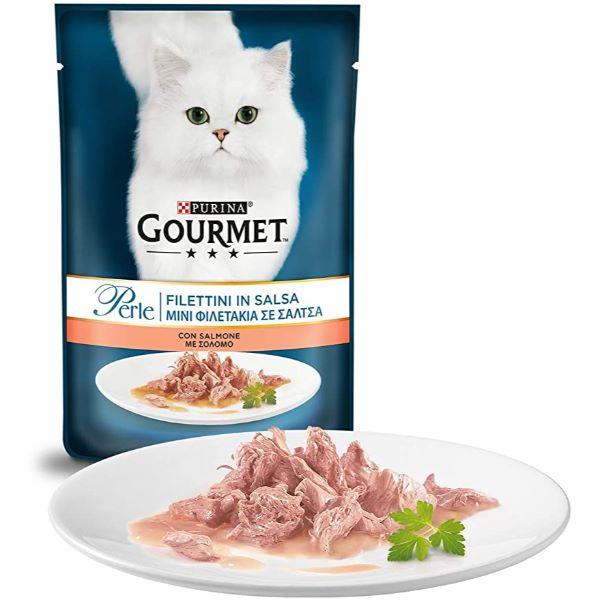 Котешка Храна Gourmet® Pеrle Мини Филенца В Сос Сьомга 85g