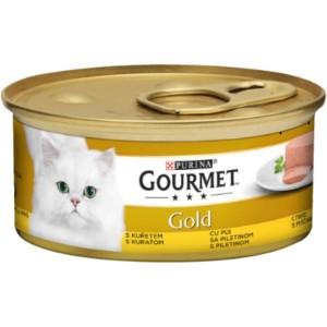 Котешка Храна GOURMET® GOLD Пастет с Пиле, 85g
