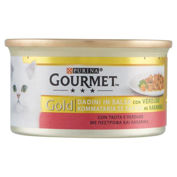 Котешка Храна GOURMET® GOLD Пастет с Пастърва и зеленчуци, 85g