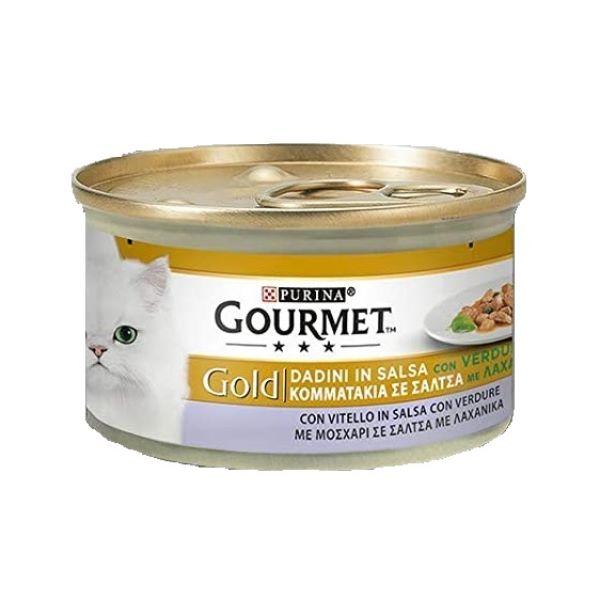 Котешка Храна Gourmet® Gold Хапки С Телешко И Зеленчуци, 85g