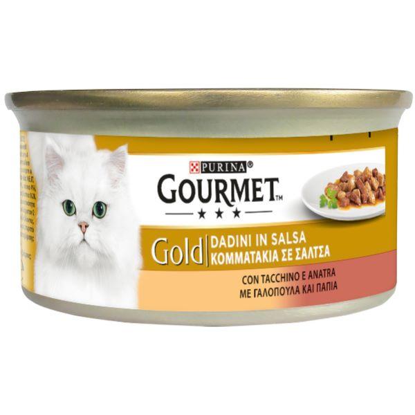 Котешка Храна Gourmet® Gold Хапки В Сос С Пуйка И Патица, 85g