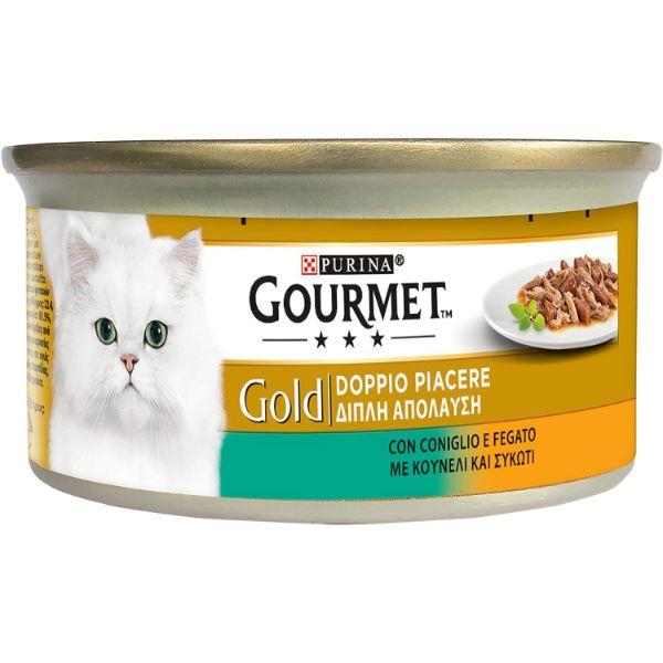 Котешка Храна Gourmet® Gold Хапки В Сос Със Заешко И Черен Дроб, 85g