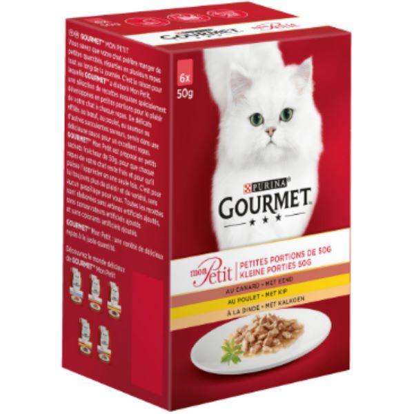 Котешка Храна Gourmet® Mon Petit С Пиле, Патица, Пуйка 6 Х 50g