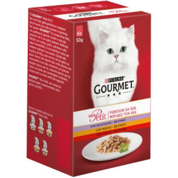 Котешка Храна Gourmet® Mon Petit С Говеждо, Телешко, Агне 6 Х 50g