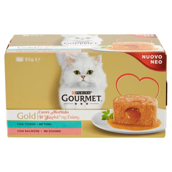 Котешка Храна Gourmet® Gold Пастет С Риба Тон И Сьомга, 4 Х 85g