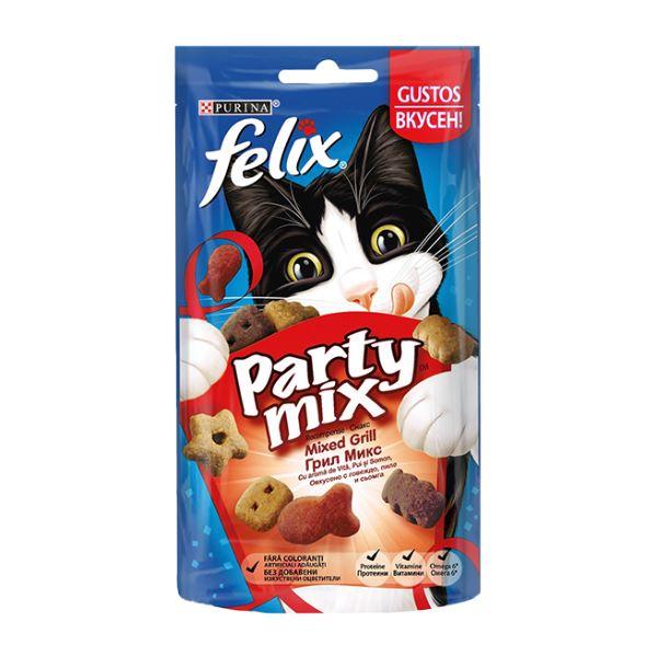 Котешка Храна Felix® Party Mix Грил Микс 60g