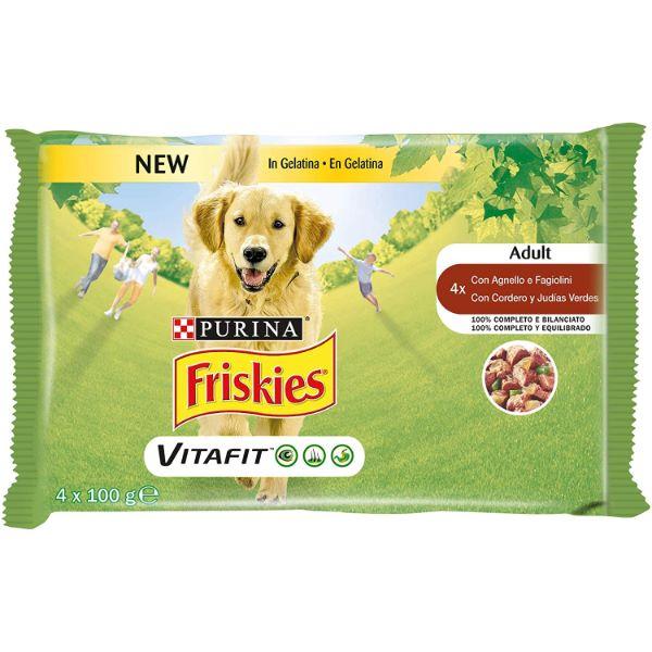 Кучешка Храна Friskies® Adult Vitafit Multipack,хапки В Сос Агнешко И Моркови 4x 100 Гр