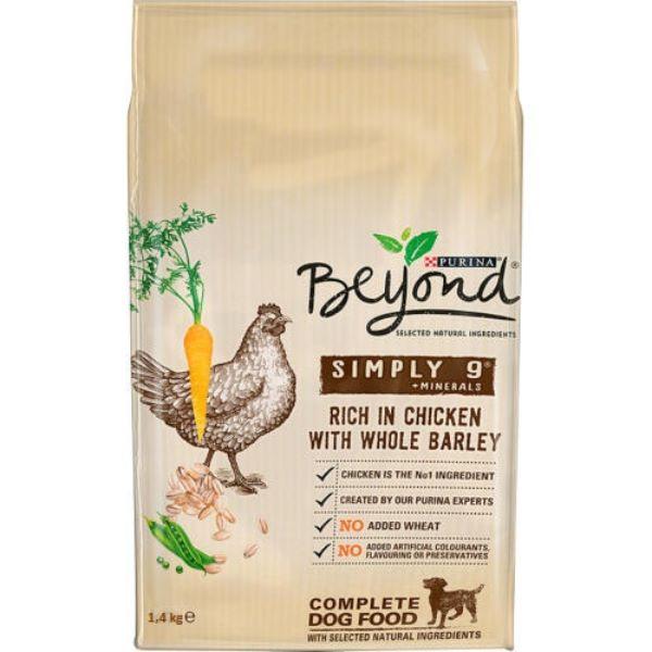 Кучешка Храна Beyond Simply 9 с Пиле и зърнени храни, 1400гр