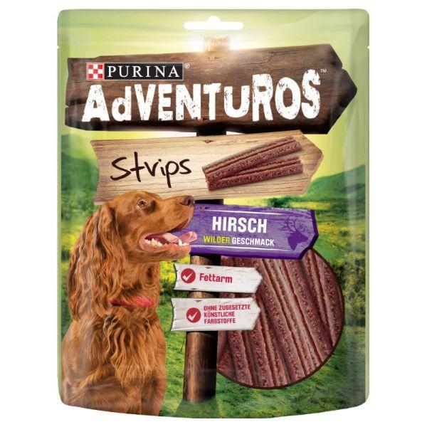Кучешка Храна AdVENTuROS Strips с аромат на еленско месо 90гр