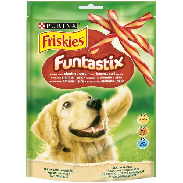 Кучешка Храна Friskies Funtastix - лакомство с шунка и сирене 175 гр.