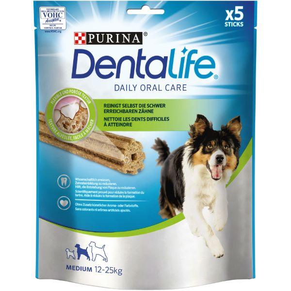 Кучешка Храна PURINA® DENTALIFE Sticks - лакомство за кучета от средни породи, 7 бр. 115 гр.