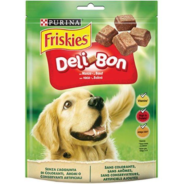 Кучешка Храна Friskies Deli Bon - лакомство с говеждо 130 гр.