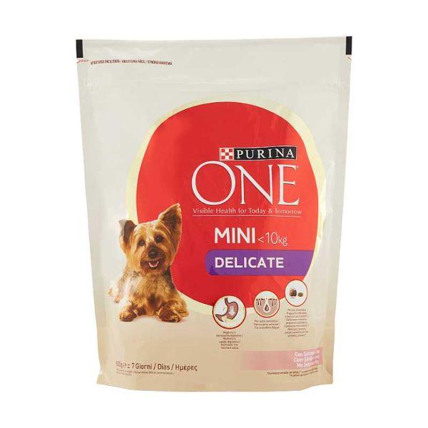 Кучешка Храна PURINA ONE MINI <10kg Гранули със сьомга и ориз, 800гр.