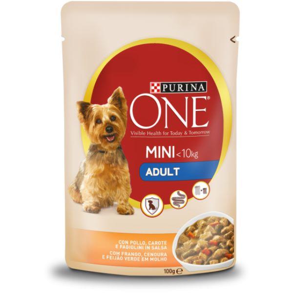 Кучешка Храна Purina One Mini <10kg Adult С Пиле И Моркови 100гр