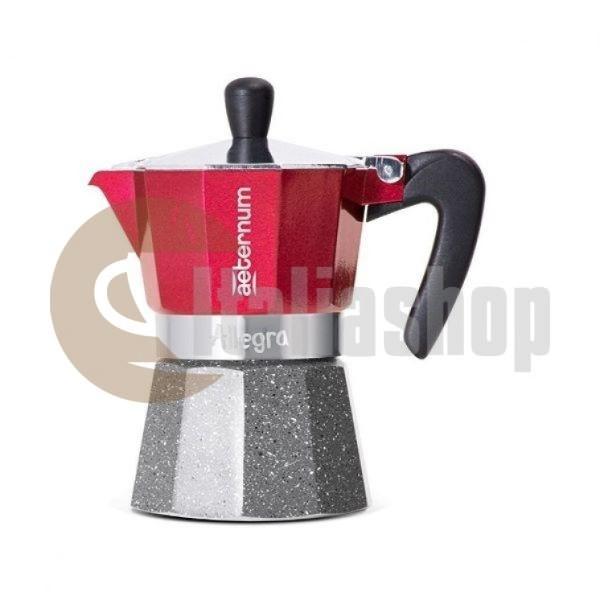 Кафеварка Aeternum Allegra За 3 Чаши, Червена
