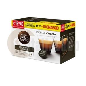 Dolce Gusto Espresso Intenso 80 капсули  + подарък 20 бр капсули микс + 10 специални капсули Foodness