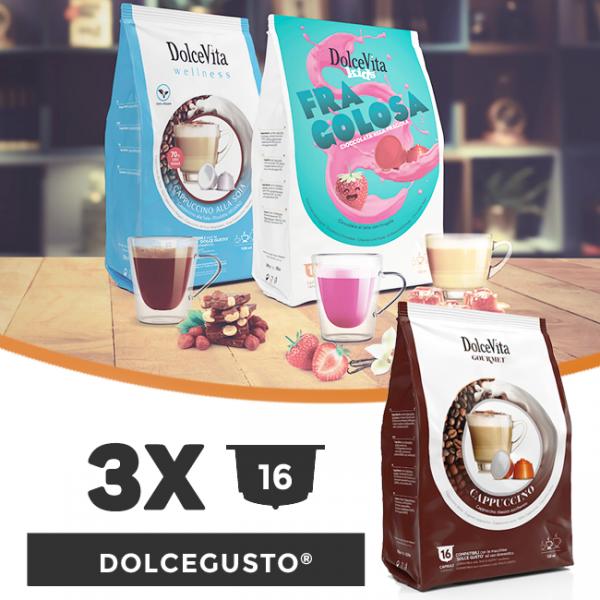 Dolce Vita съвместими капсули за Dolce Gusto - 3 пакета х 16 бр.