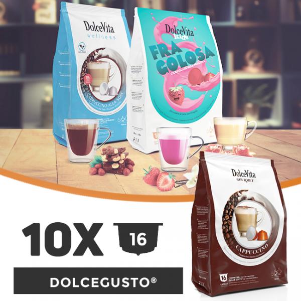 Dolce Vita съвместими капсули за Dolce Gusto -  10 пакета х 16 бр.