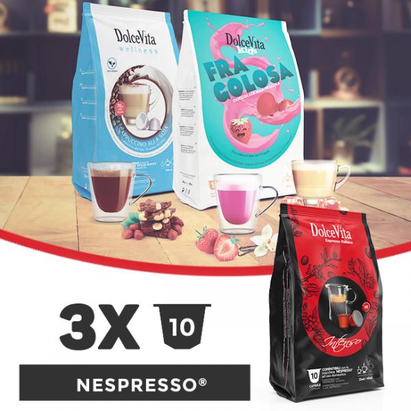 Dolce Vita съвместими капсули за Nespresso - 3 пакета х 10 бр.