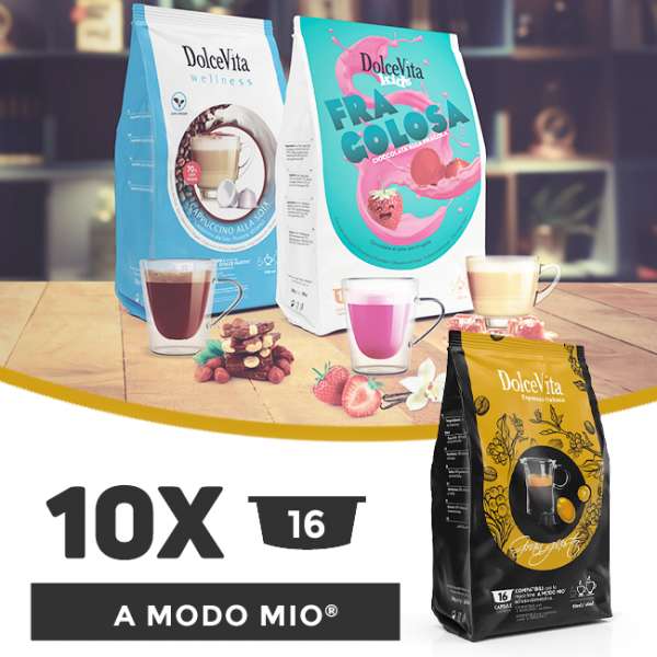 Dolce Vita съвместими капсули за Lavazza A Modo Mio - 10 пакета х 16 бр.