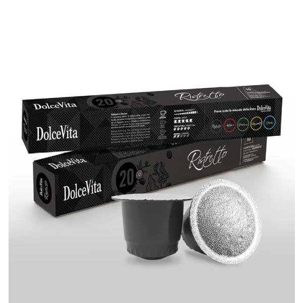 Dolce Vita съвместими капсули за Nespresso Tubo Ristretto - 10 бр