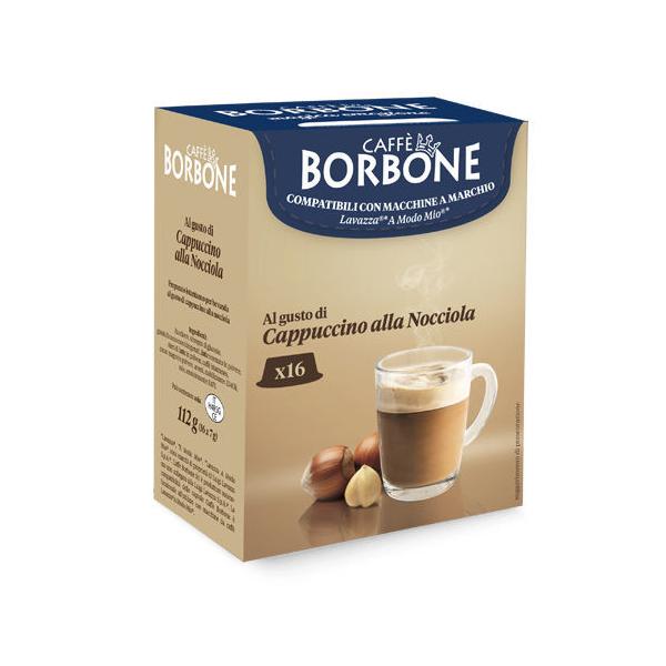 Borbone съвместими капсули за Lavazza A Modo Mio Cappuccino alla Nocciola - 16 бр