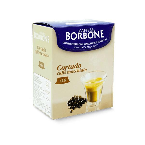 Borbone съвместими капсули за Lavazza A Modo Mio Cortado - 16 бр