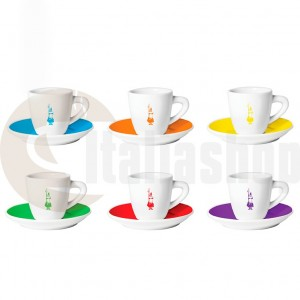 Bialetti Порцеланови Чаши За Кафе Istituzionali Color 6 Броя