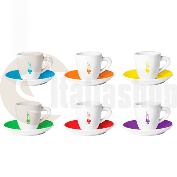 Bialetti Порцеланови Чаши За Кафе Istituzionali Color 6 Броя