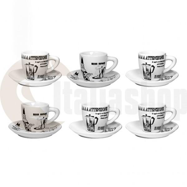Bialetti Порцеланови Чаши За Кафе Carosello 6 Броя