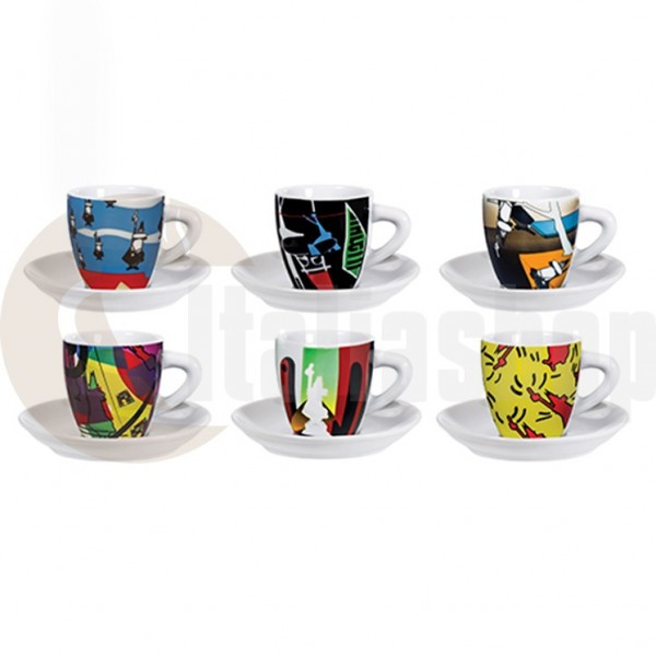 Bialetti Порцеланови Чаши За Кафе Arte 6 Броя